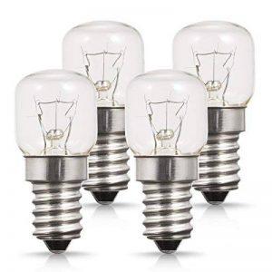 Techgomade Petit culot à vis E14Base, au four ampoules, tungstène lumière, 25W Ampoule halogène, Blanc chaud 2700K, non dimmable, forme tubulaire, Lot de 4 de la marque TECHGOMADE image 0 produit