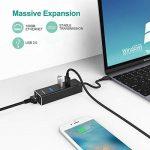 Techole Hub USB 3.0, 3 Ports USB en Aluminium 5Gbps avec Adaptateur Réseau Gigabit Ethernet RJ45, 1000Mbps, Adaptateur USB C pour Chromebook Mac et Autres Périphériques de la marque Techole image 4 produit
