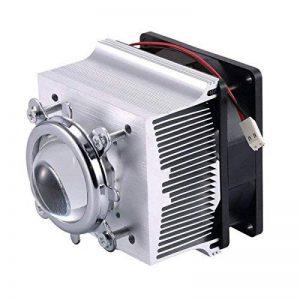 Tesfish Ventilateur de refroidissement de dissipateur en aluminium + lentille de 44mm 60 degrés pour 50W 100W LED Chip de la marque Tesfish image 0 produit