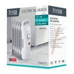 Tessa TSA8029 Teesa Radiateur à huile électrique mobile 800 W 7 cônes thermostat, protection contre la surchauffe, avec pieds Blanc de la marque Tessa image 3 produit