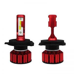 TFENG LED Phare 2PACS Phare H4 400W 48000LM COB Kit Haute/Basse Poutres Avant Lumière de la marque TFENG image 0 produit