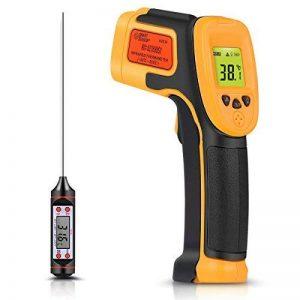 Thermomètre infrarouge, pistolet infrarouge de température de laser de laser d'IR -26 ° F ~ 1022 ° F (-32 ° C ~ 550 ° C) sonde de température pour la cuisson / air / réfrigérateur - thermomètre libre de la marque SOVARCATE image 0 produit