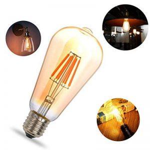 THINKMORE Ampoule LED E27 Filament ST64 Blanc Chaud 2200K 220 VAC 8W Équivalent 60W Ampoule à Incandescence Décoration & Lampes d'atmosphère Doré de la marque THINKMORE image 0 produit
