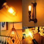 THINKMORE Ampoule LED E27 Filament ST64 Blanc Chaud 2200K 220 VAC 8W Équivalent 60W Ampoule à Incandescence Décoration & Lampes d'atmosphère Doré de la marque THINKMORE image 3 produit