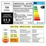 THINKMORE Ampoule LED E27 Filament ST64 Blanc Chaud 2200K 220 VAC 8W Équivalent 60W Ampoule à Incandescence Décoration & Lampes d'atmosphère Doré de la marque THINKMORE image 2 produit