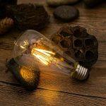 THINKMORE Ampoules LED E27 Filament Vintage ST64 Blanc Chaud 2300K 220 VAC 8W Équivalent 60W Ampoule à Incandescence Décoration & Lampes d'atmosphère Doré Lot de 4 de la marque THINKMORE image 4 produit