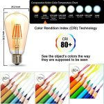 THINKMORE Ampoules LED E27 Filament Vintage ST64 Blanc Chaud 2300K 220 VAC 8W Équivalent 60W Ampoule à Incandescence Décoration & Lampes d'atmosphère Doré Lot de 4 de la marque THINKMORE image 1 produit