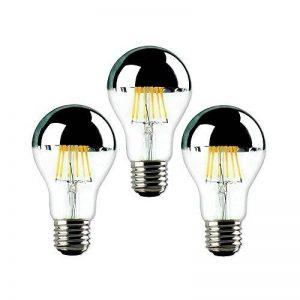 TINS 3 x Ampoule Nostalgique Edison Ampoule A60 8 W 220 V E27 Chaud Blanc Filament Phare Miroir Lumière Filament Tête Miroir Antique Effacer LED Dimmable Éclairage Lampe Économie D'énergie,3 Paquets de la marque TINS image 0 produit