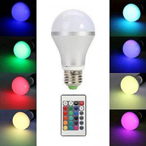 TKOOFN 5 W Lumière Ampoule Ampoules LED RGB Ampoule LED E27 de couleur changeante avec télécommande IR – Classe énergétique A (5050, E27 RVB) de la marque TKOOFN image 0 produit