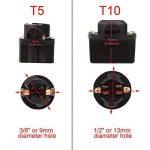 TOMALL T5 73 74 Twist Prise pour Tableau de Bord Tableau de Bord Voiture Lumineuse LED Base d'ampoules de Jauge (Lot de 10) de la marque TOMALL image 4 produit