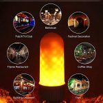 Tomshine E27 LED Flamme, Fire Effet Ampoule Lampe Scintillant Lumineux/Gardez l Flamme Mode SMD2835 Flamme lumière d'ambiance Lampe pour Noël, Party,d'extérieur [Classe énergétique A+] de la marque Tomshine image 2 produit
