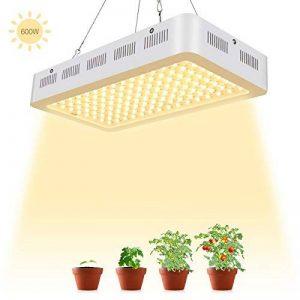 TOPLANET 600W Lampe pour Plante Culture LED Full Spectrum 120 * 5W Horticole Floraison Blanc Chaud pour Indoor Grow Box pour plante fruit végétale de la marque TOPLANET image 0 produit