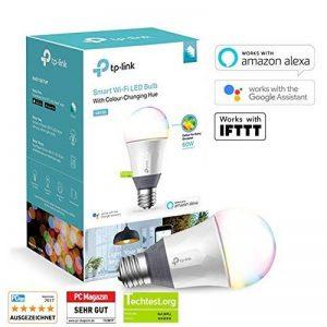 TP-Link Ampoule LED connectée WiFi, culot E27, 10W, fonctionne avec Amazon Alexa (Echo et Echo Dot), Google Assistant et IFTTT pour la commande vocale, couleur personnalisable, pas de Hub requis [Classe énergétique A+] - LB130 de la marque TP-Link image 0 produit