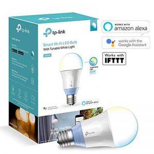 TP-Link Ampoule LED connectée WiFi, culot E27, lumière blanche d'ambiance, 10W, fonctionne avec Amazon Alexa (Echo et Echo Dot), Google Assistant et IFTTT pour la commande vocale, toutes les teintes de blanc, pas besoin de hub [Classe énergétique A+] - L image 0 produit