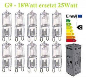 Trango ® de 10 à intensité variable 18Watt eco energy saver au lieu de 25 w spot ampoule halogène culot g9 de la marque Trango image 0 produit