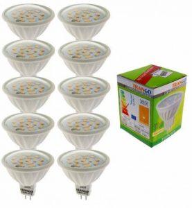 Trango ® à intensité variable avec culot gU5.3 mR16 lot de 12 lampe lED blanc chaud ampoules lED sMD angle d'éclairage 120° tGMR1615 de la marque Trango image 0 produit
