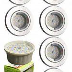 Trango tG6737R -06MD de 6 ampoules spots à lED à intensité variable en aluminium haut de gamme ronds torsadée 6 ampoules 6, 0 w module lED à très faible profondeur d'installation : seulement 3 cm de la marque Trango image 1 produit
