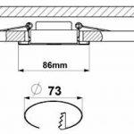 Trango tG6737R -06MD de 6 ampoules spots à lED à intensité variable en aluminium haut de gamme ronds torsadée 6 ampoules 6, 0 w module lED à très faible profondeur d'installation : seulement 3 cm de la marque Trango image 4 produit