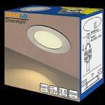 Trango TGG4E-04X Lot de 4spots LED encastrables 12V AC/DC pour remplacer lampes G4 traditionnelles pour meubles, hottes de cuisine, etc. Acier inoxydable de la marque Trango image 4 produit