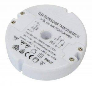 transformateur halogène Transmedia LT5-3L, 230 / 12V / 35-105W, protection contre les surcharges, fusible de température, pas baissable, ø 85 x 22 mm de la marque Transmedia image 0 produit