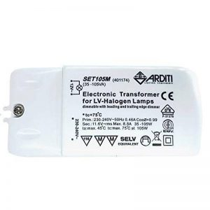 Transformateur électronique 35-105 W / 12 V / 240 V encastrable transformateur pour lampes halogènes NV et lampes de la marque Arditi Lighting Components image 0 produit