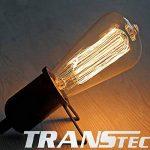 TRANSTEC® 4X Ampoule Rétro ST64 B22 60W Ampoule Edison Déco à Filament Antique Vintage Incandescence - 230V 2700K Blanc Chaud Dimmable - En Cage d'écure à Filament - Industrial Style - [Classe énergétique A] de la marque Transtec image 3 produit