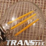TRANSTEC 6X LED Filament Ampoule Mini Golf Rétro Style G45 - 2W LED E14 Base, Transparent Blanc Chaud 2700K, LED Edison Ampoule Non-dimmable de la marque Transtec image 3 produit