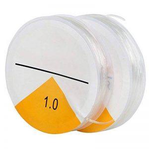 TRIXES Fil Extensible Élastique Transparent Fabrication de Bracelets - Fil pour Bijoux 2x Transparent 8 Mètres de ficelle 1 mm de la marque TRIXES image 0 produit