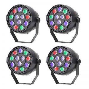 TSSS ® mischfarbe dMX lED rGBW master slave son activation par la lumière pour éclairage disco parteierscheinen bal dJ mariage 4 Stücke de la marque TSSS image 0 produit