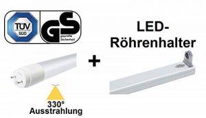 Tube LED certifié TÜV + GS T8 / G13 – 150 cm – 22 W – 330 ° – Flux lumineux – High Lux (2640 Lm) – Blanc neutre ~ 4000 K + 1 support pour tube LED/LED passager/équivalent de 58 – 75 W – 75 W – de la marque ZIELO image 0 produit