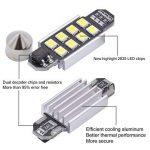 Tuincyn 36mm Garde toujours en aluminium CANBUS sans erreur ampoule LED Super Bright Blanc pur lumière de plaque d'immatriculation 2835–8smd E39E36E46E90E60E30E53E70de voiture Porte intérieure carte dôme lumières LED 12V (lot de 10) de la marque image 3 produit