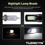 TUINCYN - Feu de brouillard LED H1 pour voitures - Puces CSP, 1600 lm, 6500 °K, blanc froid, 80 W, feux de jour de la marque TUINCYN image 3 produit