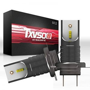 TXVSO 110W 12000LM H7 LED Kit phare de voiture 6000K lampes blanches, adapté pour tous H7 voiture, 55W / ampoule, 2 pcs/ensemble de la marque TXVSO image 0 produit