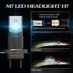 TXVSO 110W 12000LM H7 LED Kit phare de voiture 6000K lampes blanches, adapté pour tous H7 voiture, 55W / ampoule, 2 pcs/ensemble de la marque TXVSO image 2 produit