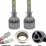 TXVSO8 H1 110W LED COB Kit Voiture Headlight 9200LM 6000K Lampes Blanc Ampoules, 55W/Bulb, 2 Yr Warranty de la marque TXVSO8 image 4 produit