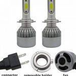 TXVSO8 H7 110W LED COB Kit Voiture Headlight 9200LM 6000K Lampes Blanc Ampoules, 55W/Bulb, 2 Yr Warranty de la marque TXVSO8 image 3 produit