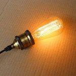 TY@ Vintage Edison Ampoules Dimmable E27 280lm 2300K blanc chaud fil ST58 pointe de tungstène ampoule Antik Pour les lampes industrielles de style rétro de Nostalgie, 40w de la marque Edison Lampe image 2 produit