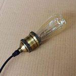 TY@ Vintage Edison Ampoules Dimmable E27 280lm 2300K blanc chaud fil ST58 pointe de tungstène ampoule Antik Pour les lampes industrielles de style rétro de Nostalgie, 40w de la marque Edison Lampe image 3 produit