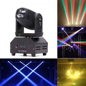 U`King LED DMX512 Disco Lumière RGBW (4 en 1) 14CH Automatique Commande Vocale 30W Disco Lumière Rotative pour Disco DJ Club Fête Bar Noël Thétre Mariage de la marque UKing image 0 produit