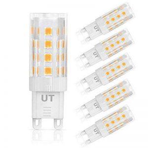 Ustellar Lot de 5 G9 LED Ampoules 5W, Equivalentes 50W Ampoules Halogènes, 340lm 2835 SMD, AC 220-240V, 360° Angle de Faisceau, Lumière Blanc Chaud 3000K, Ampoule Maïs de la marque Ustellar image 0 produit