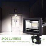 Ustellar Projecteur LED Extérieur Détecteur de Mouvement, 30W, IP66 Etanche, 2400 Lumens, 5000K Blanc, Eclairage de Sécurité, Luminaire Lampe Spot Murale Jardin Terrasse de la marque Ustellar image 1 produit