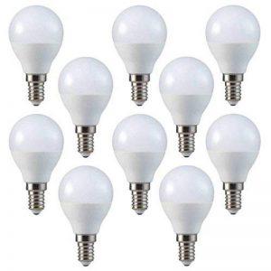 V-TAC Petite ampoule LED E14 P45 type globe, avec culot à vis, 4W (équivalent ampoule incandescente de 30W), blanc chaud - Lot de 10 [Classe énergétique A+] de la marque V-TAC image 0 produit