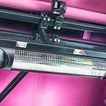 Veito Chauffage infrarouge radiant Blade Optima Noir 2500 Watt - IP55 - Télécommandé de la marque Veito image 4 produit