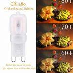 Velouer Ampoule G9 LED Lampes Blanc Chaud 6000K, 240LM, 25W Halogène Lumière Equivalente, 360 Degrés Angle, AC 200-240V Pack de 10 de la marque SIMSKY image 3 produit