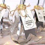 Verres rétro ampoule Lunettes avec paille et boîte de présentation Lot de 8 de la marque Jones Home and Gift image 3 produit