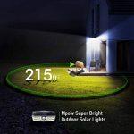 【Version Innovante】2 PACK 30 LED Mpow Lampe Solaire Etanche IPX6 Détecteur de Mouvement Panneau Solaire Amélioré 120° Grand Angle LED Eclairage Solaire Extérieur pour jardin, Garage, Cour, Maison, Escalier, Patio, Allée de la marque Mpow image 3 produit
