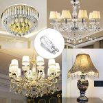 Vicloon 10 Pack Ampoule LED G9 60W Eco-Lampe Halogène Capsule,220-240V,Lampe Halogène Blanc Chaud [Classe énergétique A+] de la marque Vicloon image 4 produit