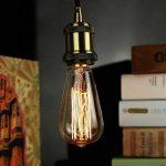 Vintage Edison Ampoule ST6440W E27ampoule à incandescence Retro industriel design leuucht pour chacun Nostalgie Méditerranée de la marque HLHL image 1 produit