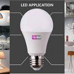 VIP LED Lot de 6ampoules LED en forme de goutte A60,culot E27, 10W, 900 lumens, lumière naturelle 4000K° de la marque VIP LED image 2 produit