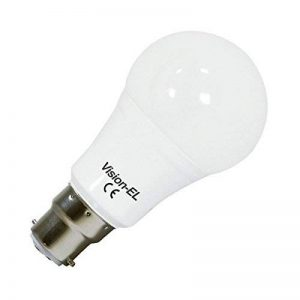Vision-EL 77394B2 Ampoule LED B22 Bulb 12W 1100 Lm 3000°K, Aluminium et PC, B22, 12 W, Dépoli, (L x Ø)-112 x 60 mm de la marque Vision-EL image 0 produit